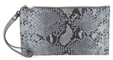Furla Babylon Python Embossed Leather Wristlet Pouch - Green