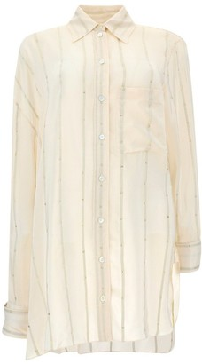 Lanvin Striped Asymmetrical Shirt
