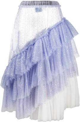 Viktor & Rolf Tequila Sunrise ruffled lace skirt