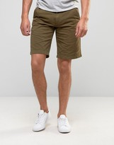 Barbour Newston Twill Chino Shorts In Green