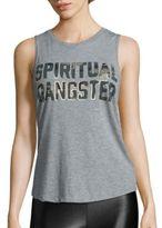 Spiritual Gangster Camo Printed Heathered Tank