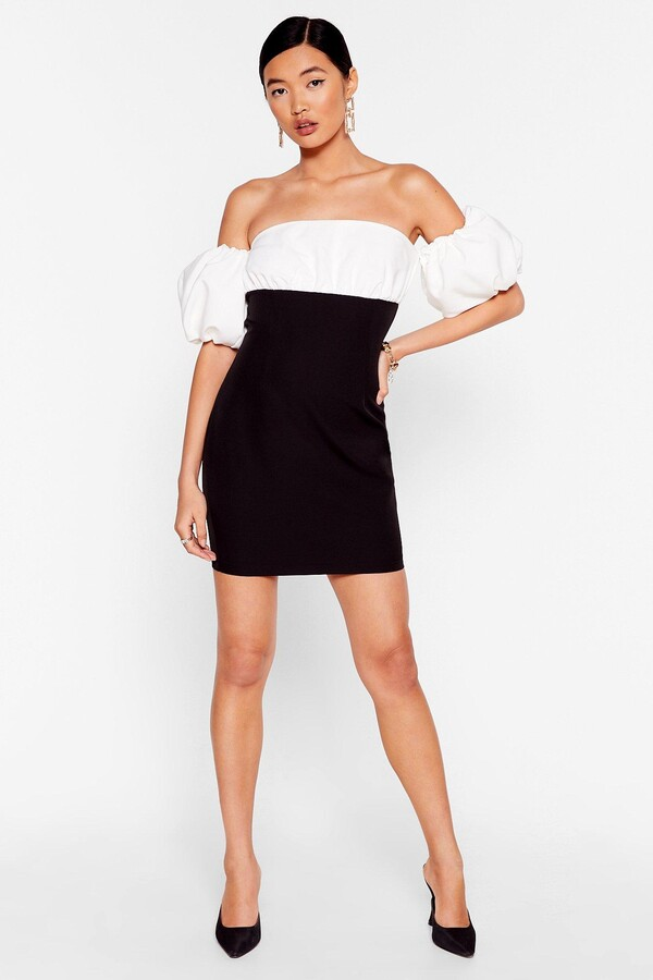 Thumbnail for your product : Nasty Gal Womens Show Off-the-Shoulder Puff Sleeve Mini Dress