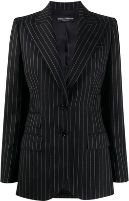 Dolce & Gabbana Striped Single-Breasted Blazer