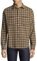 A.P.C. Surchemise Windowpane Casual Button-Down Shirt
