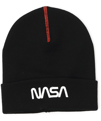 Heron Preston Nasa Logo Embroidered Ribbed Beanie