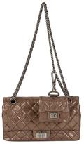 Chanel Vintage Bronze Quilted Metallic Lambskin Reissue Flap Medium