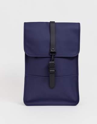 Rains 1280 mini waterproof backpack in navy