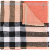 Burberry House Check scarf - men - Linen/Flax - One Size