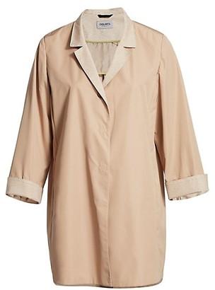 Cinzia Rocca, Plus Size Contrast Knit Trench Coat
