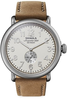 Shinola The Runwell Stainless Steel Leather-Strap Watch
