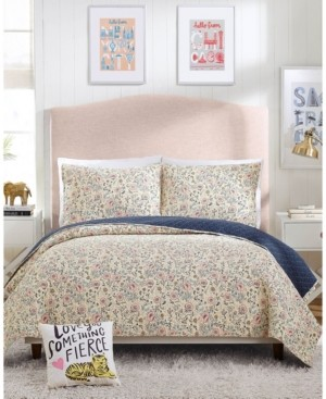 Makers Collective Provencal Poppies 2-Piece Twin Quilt Set