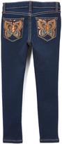 Vigoss Dark Blue Autumn Butterfly Jeans - Girls