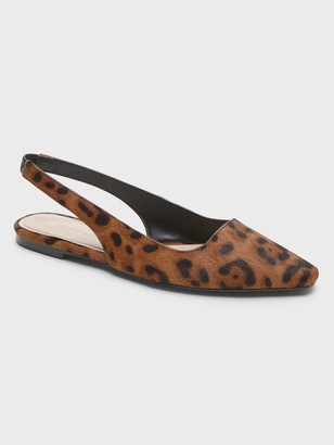 Banana Republic Haircalf Leather Slingback Flat