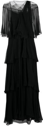 Alberta Ferretti Flounce-Tiered Dress