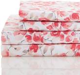 Melange Home 400 Thread Count 100% Cotton Watercolor Poppy Sheet Set