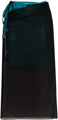 Supriya Lele Tie-Side Midi Skirt