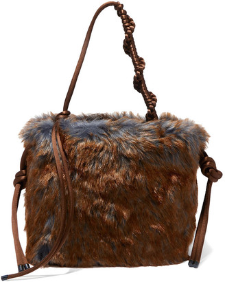 Dries Van Noten Scrunchy Two-tone Faux Fur Tote