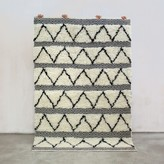 Graham and Green Malley Zig Zag And Diamond Large Hand Woven Rug