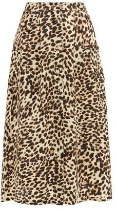 Arizona Love Alix Leopard-print Satin Skirt - Leopard