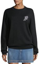 Frame Crewneck Wool-Blend Sweatshirt w/ Embroidery
