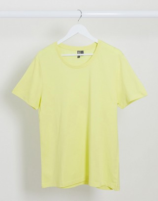 ASOS DESIGN t-shirt with scoop neck in yellow