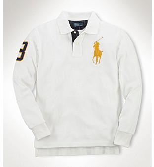Ralph Lauren Boys' 8-20 Long Sleeve Big Pony Polo