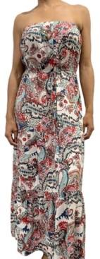 BeBop Juniors' Strapless Tiered Maxi Dress