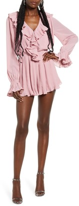 Endless Rose Ruffled Pleat Romper
