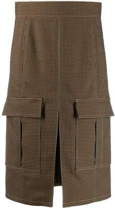 Chloé high-waisted checked skirt