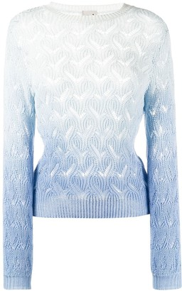 L'Autre Chose perforated fitted jumper