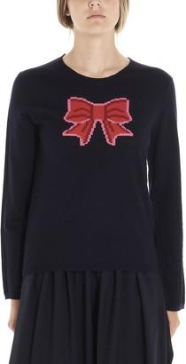 COMME DES GARÇONS GIRL Bow Intarsia Knitted Sweatshirt