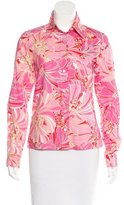 Dolce & Gabbana Printed Button-Up Top