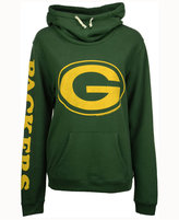 Junk Food Clothing Women's Green Bay Packers Logo Funnel Hoodie