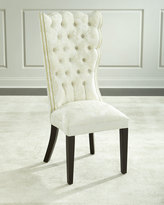 Haute House Pantages Damask Dining Chair, Ivory