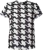 DSQUARED2 houndstooth print T-shirt