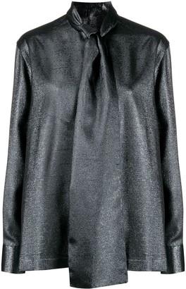 Dolce & Gabbana pussybow metallic blouse