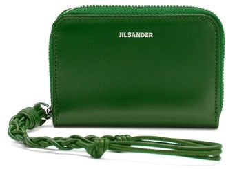 Jil Sander Knotted-strap Leather Wallet - Green