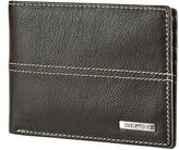 Steve Madden Brown Kidskin Passcase Leather Wallet