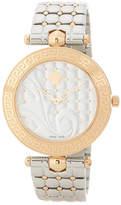 Versace Women's Vanitas Two Tone Quilted Bracelet Watch