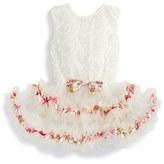 Infant Girl's Popatu Ribbon Rosette Tutu Dress