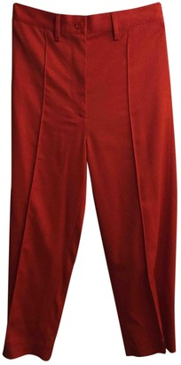 Maison Margiela Red Wool Trousers