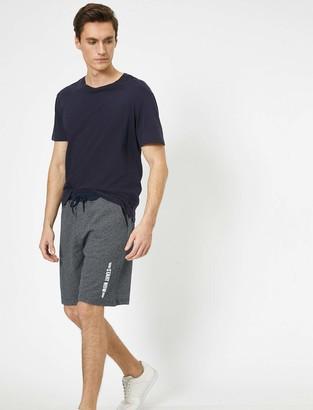Koton Men's SweatShorts mit Schriftzug Corduroy Shorts