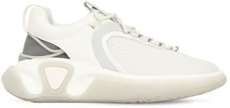 Balmain Runner Leather & Mesh Low Top Sneakers