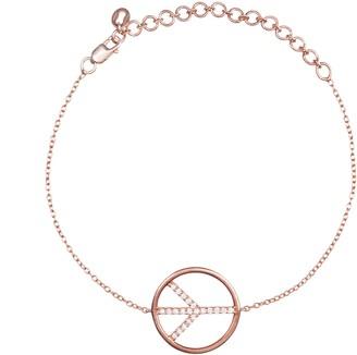 Latelita Diamond Peace Sign Bracelet Rosegold