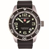 Swiss Military Men's Navy 42mm Silicone Band Swiss Quartz Watch 27011