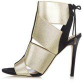 River Island Womens Gold elastic strap shoe boots