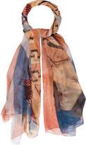 Alexander McQueen Silk God Save McQueen Scarf