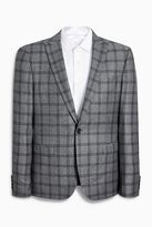Grey Check Skinny Fit Suit: Jacket