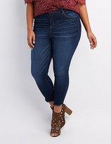 Charlotte Russe Plus Size Refuge Frayed Hem Skinny Jeans