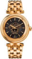 Versace 38mm Khai Bracelet Watch w/ Black Dial, Rose Golden